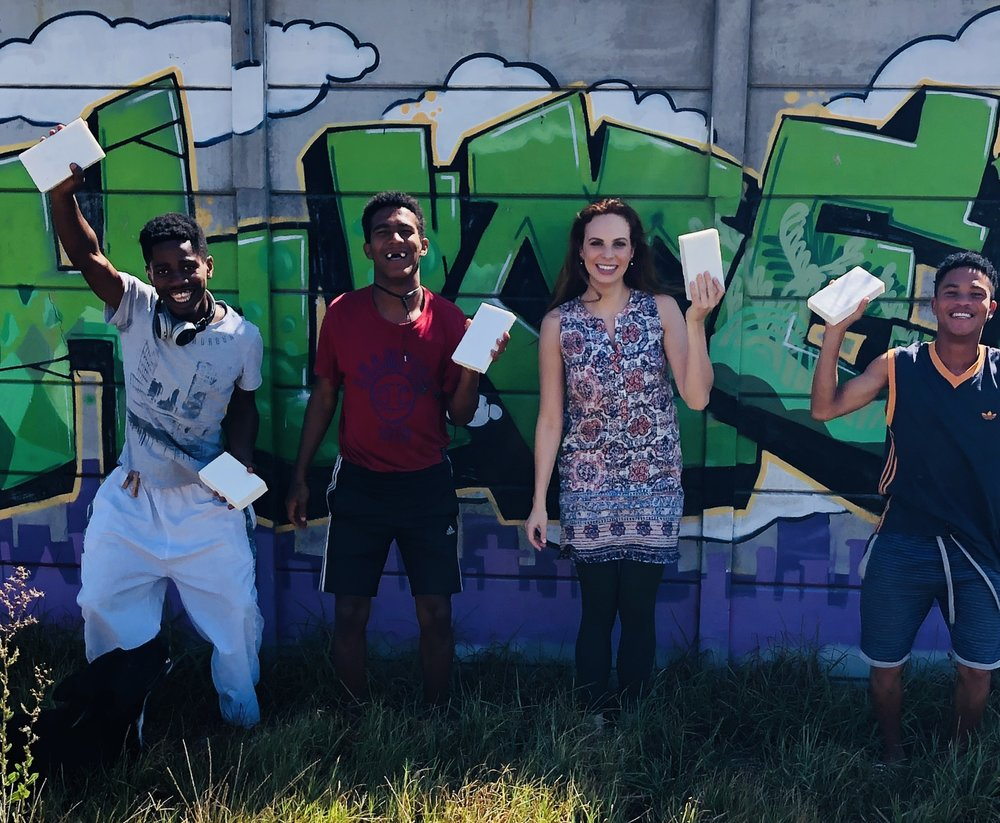 Erin and SA soap team.jpg