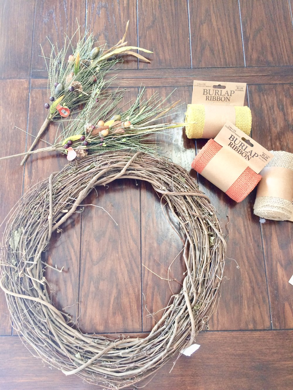 Fall Wreath DIY Supplies