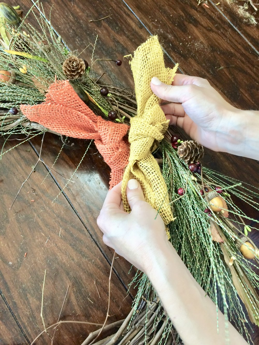 Fall Wreath Burlap