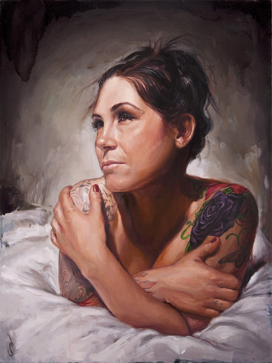 "'Portrait of the Artist, Kim Saigh', oil on canvas, 24"" x 18"", 2009, Personal Collection"