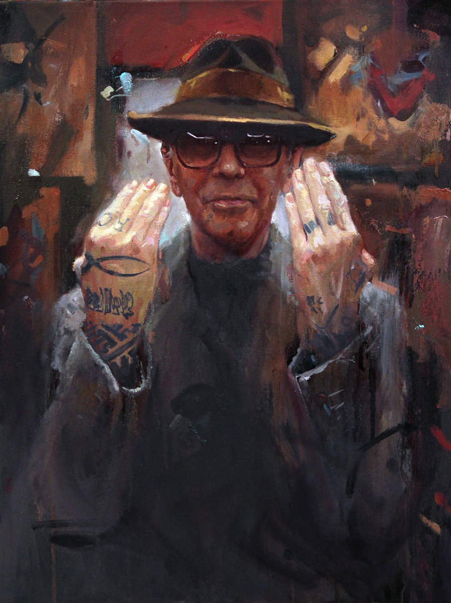 "'Portrait of the Artist, Thom deVita, Study', oil on canvas, 24"" x 18"", 2015, Collection of Phil Holt"