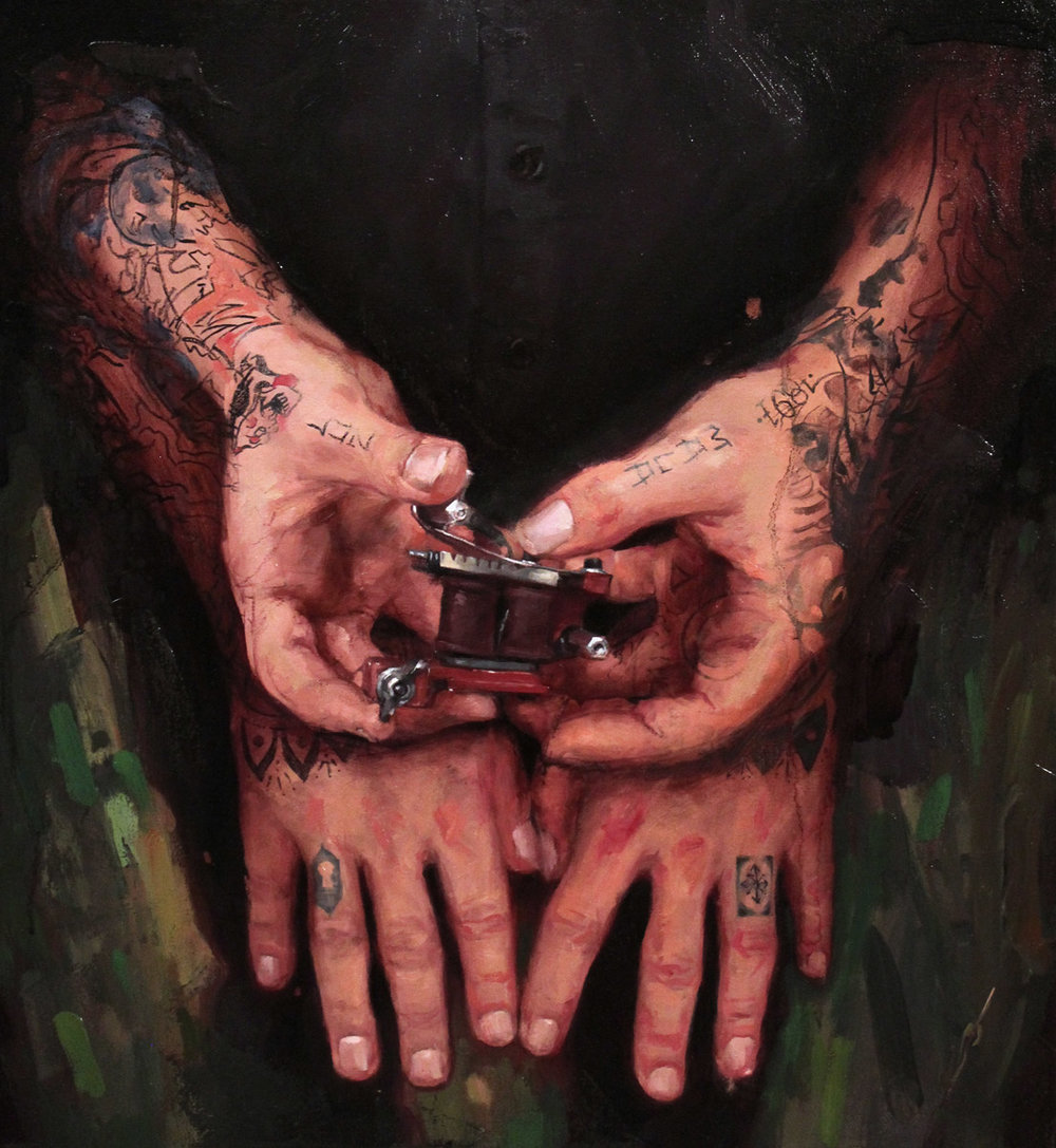 "'Edu Cerro's Hands', oil on canvas, 24"" x 18"", 2013, Collection of Edu Cerro"
