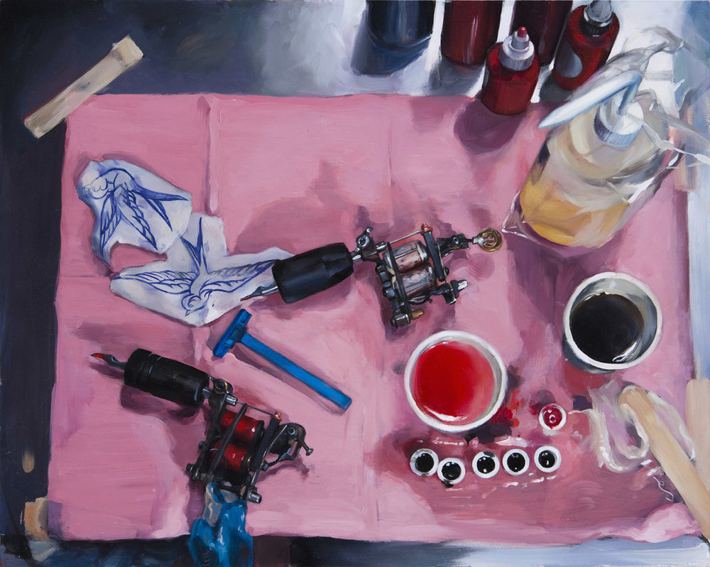 "'Traditional Still Life', oil on panel, 16"" x 20"", 2009, Private Collection"