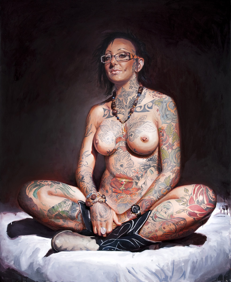 "'Portrait of the Artist, Jo Harrison', oil on canvas, 54"" x 44"", 2009, Collection of John Brusger"