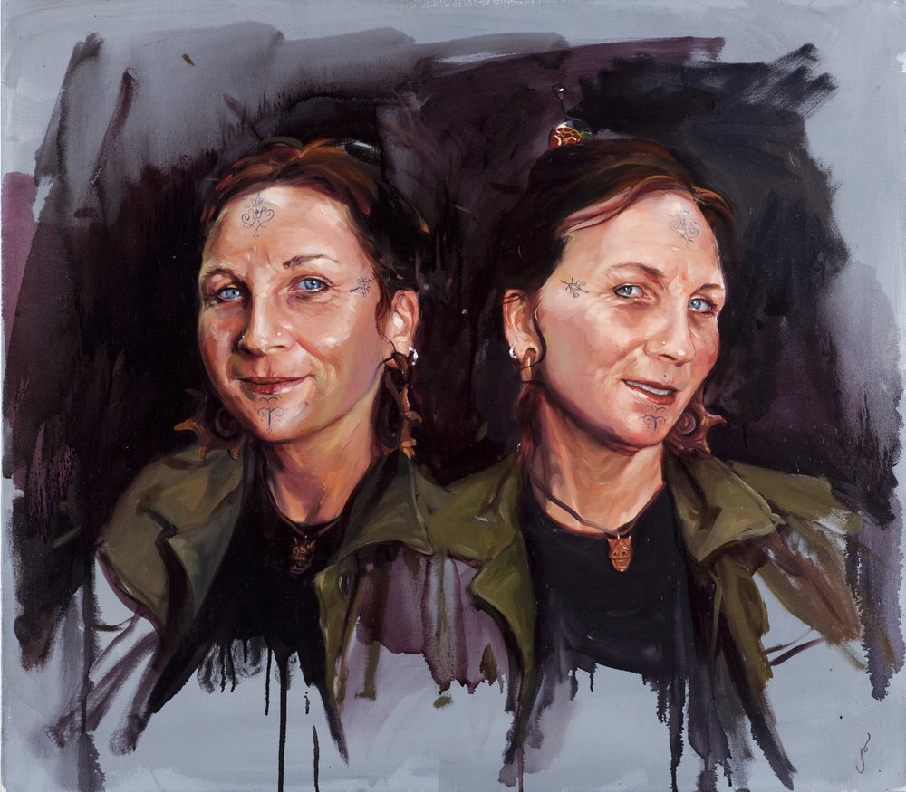 "'Portrait of the Artist, Shannon O'Sullivan', oil on canvas, 30"" x 24"", 2008, Collection of John Trippe"