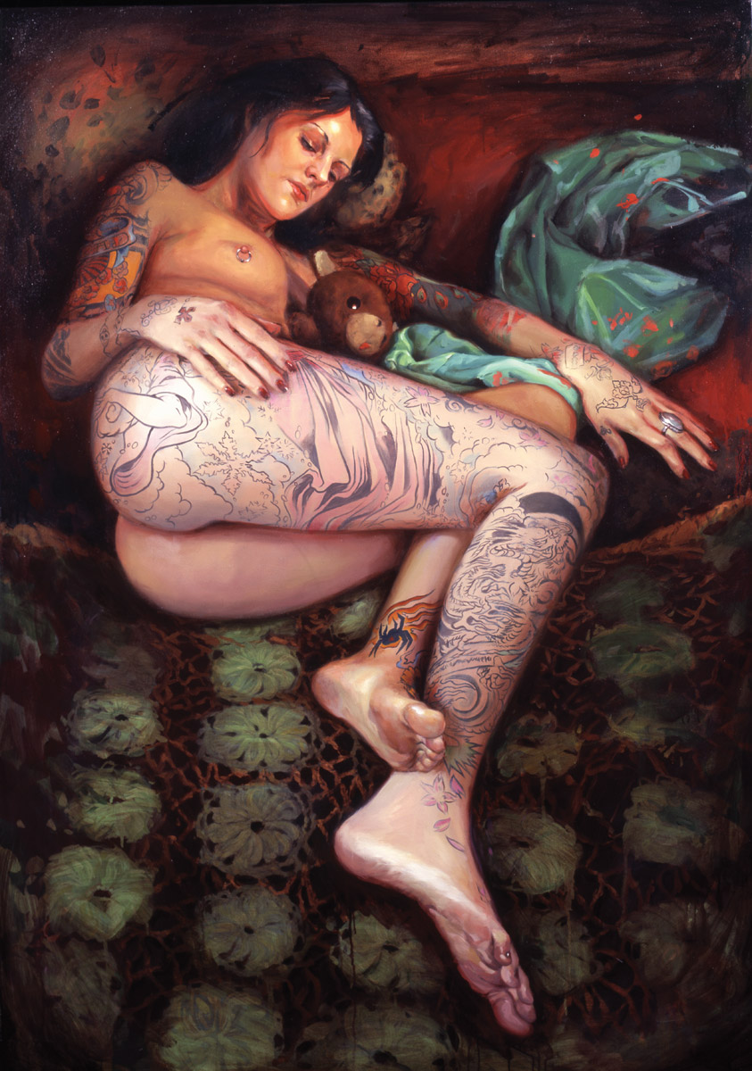 "'Portrait of the Artist, Julie Becker', oil on canvas, 60"" x 42"", 2007, Private Collection"