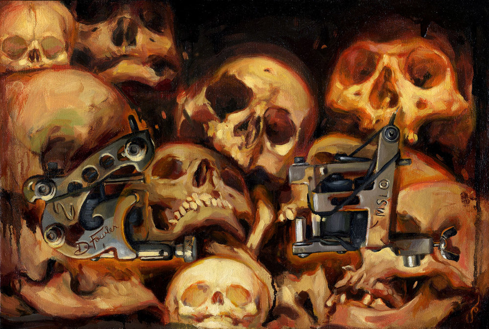 "'Paul Booth's Machines', oil on canvas, 12"" x 18"", 2005, Personal Collection"