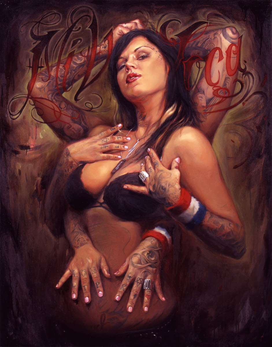 "'Portrait of the Artist, Kat Von D', oil on canvas, 46"" x 36"", 2006, Collection of Kat Von D"