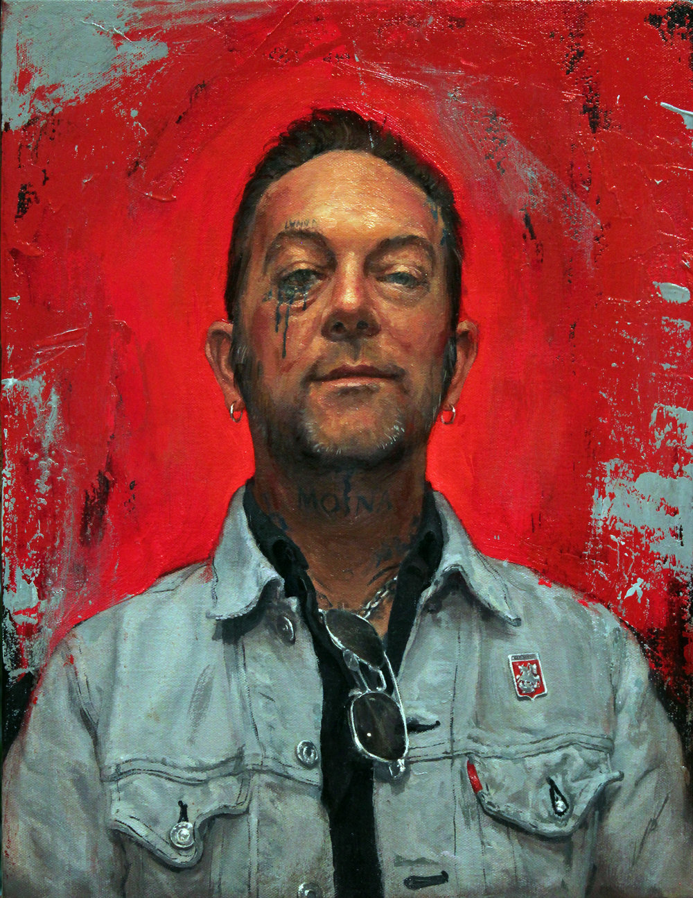 "'Portrait of the Artist, Chris Conn', oil on panel, 18"" x 14"", 2016"