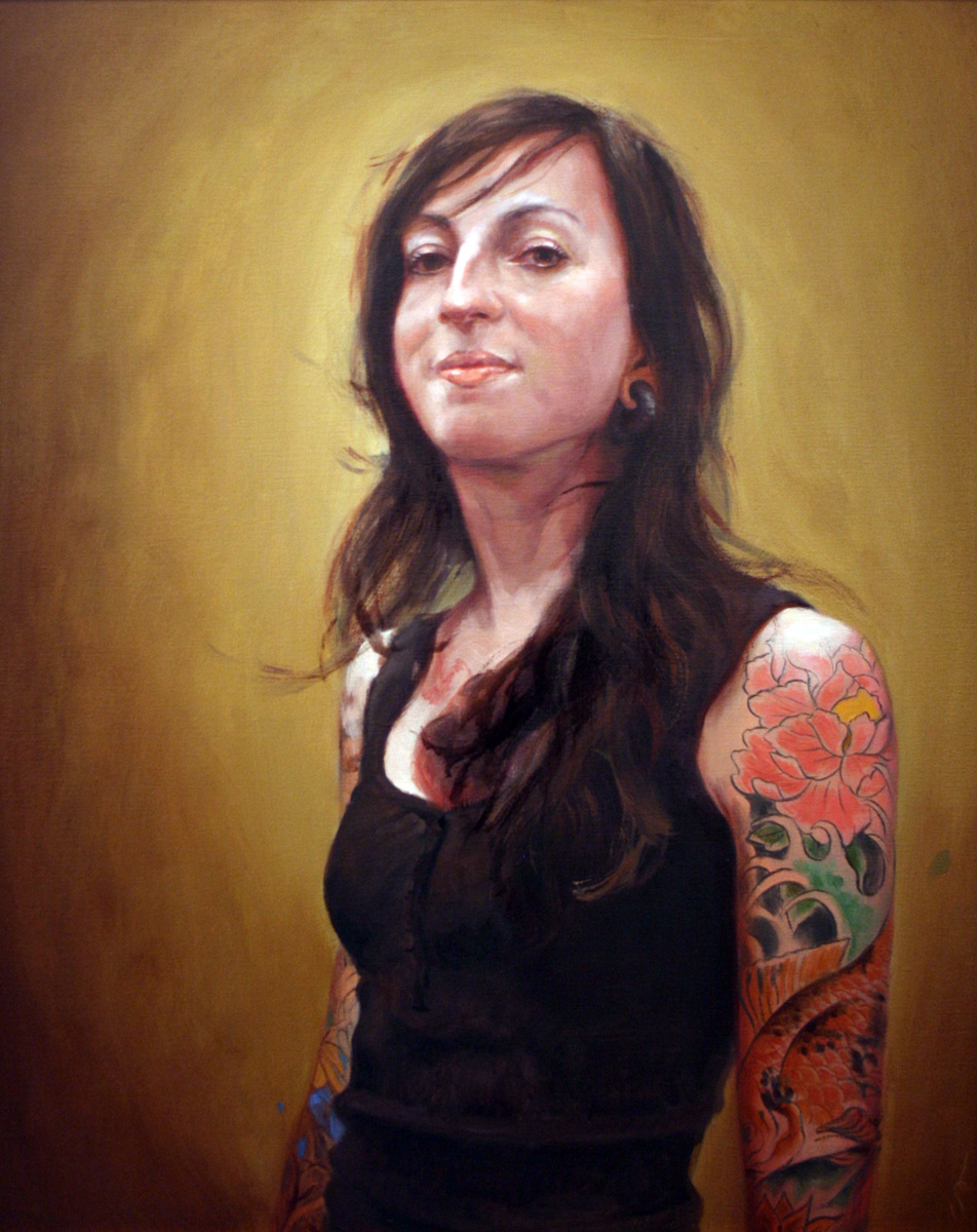 "'Portrait of the Artist, Darcy Nutt', oil on canvas, 30"" x 24"", 2009, Private Collection"