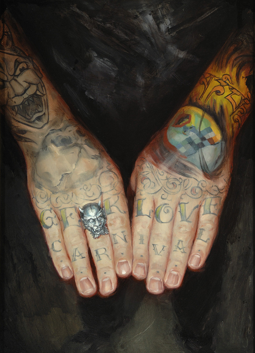 "'Tim Kern Hand Study 2', oil on panel, 14"" x 11"", 2009, Private Collection"