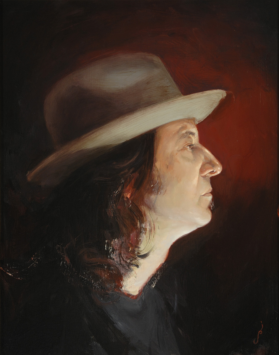 "'Portrait of the Artist, Mike Davis (Head Study)', oil on panel, 20"" x 16"", 2009, Private Collection"