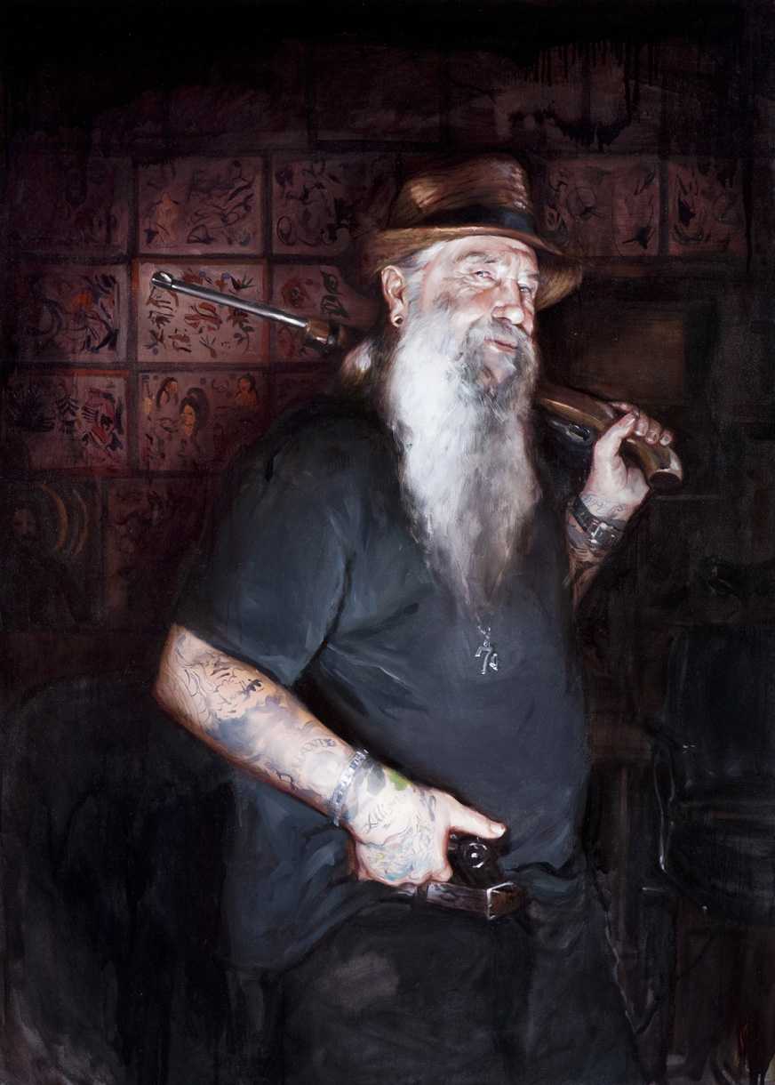 "'Portrait of the Artist, Rick Walters', oil on canvas, 50"" x 36"", 2008, Collection of Sherry McKenna"