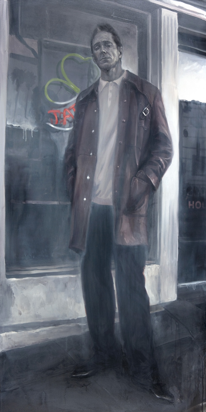 "'Portrait of the Artist, Mark Mahoney', oil on canvas, 72"" x 36"", 2008, Collection of Mark Mahoney"