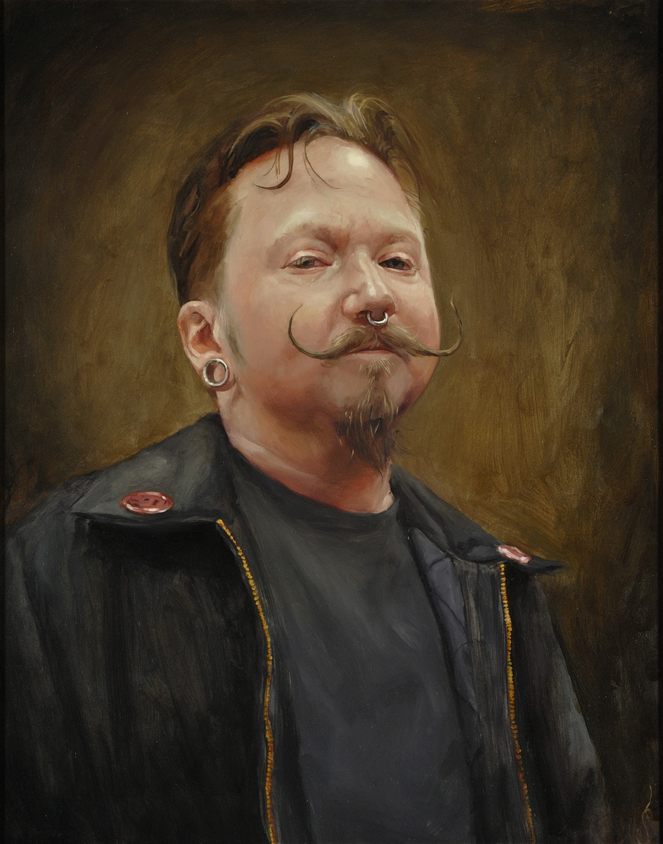 "'Portrait of the Artist, Bryan Childs, Head Study', oil on panel, 20"" x 16"", 2009, Private Collection"