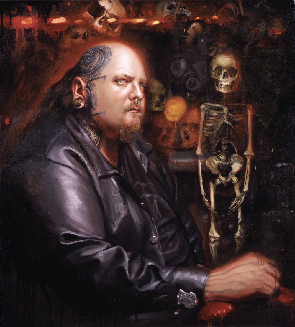 "'Portrait of the Artist, Paul Booth', oil on canvas, 38"" x 34"", 2006, Collection of Paul Booth"
