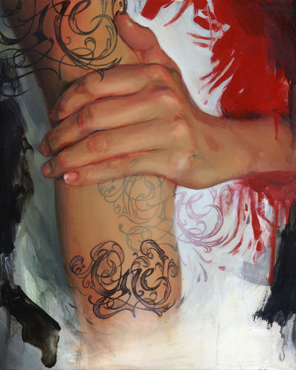 "'Portrait of the Artist, Sylvia Ji, Hand Study', oil on panel, 10"" x 8"", 2005, Collection of Kevin King"
