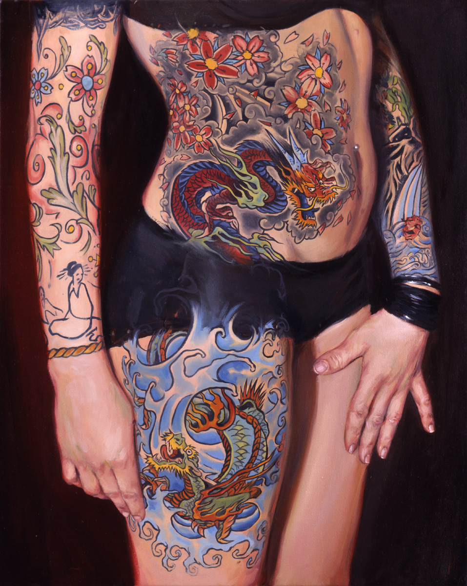 "'Portrait of the Artist, Tara McPherson', oil on canvas, 30"" x 24"", 2005, Private Collection"