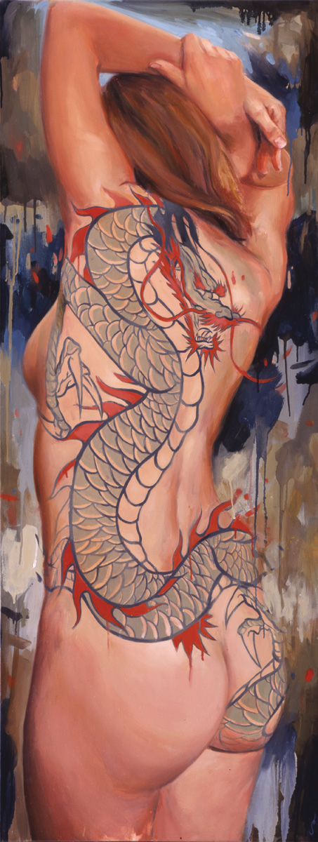 "'Portrait of the Artist, Helen Garber', oil on canvas, 58"" x 20"", 2005, Collection of Jeffrey Wardell"
