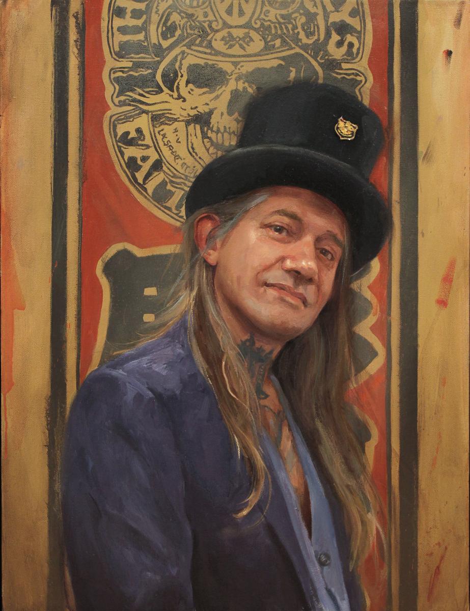 "'Portrait of the Artist, Filip Leu', oil on canvas, 24"" x 18"", 2017"