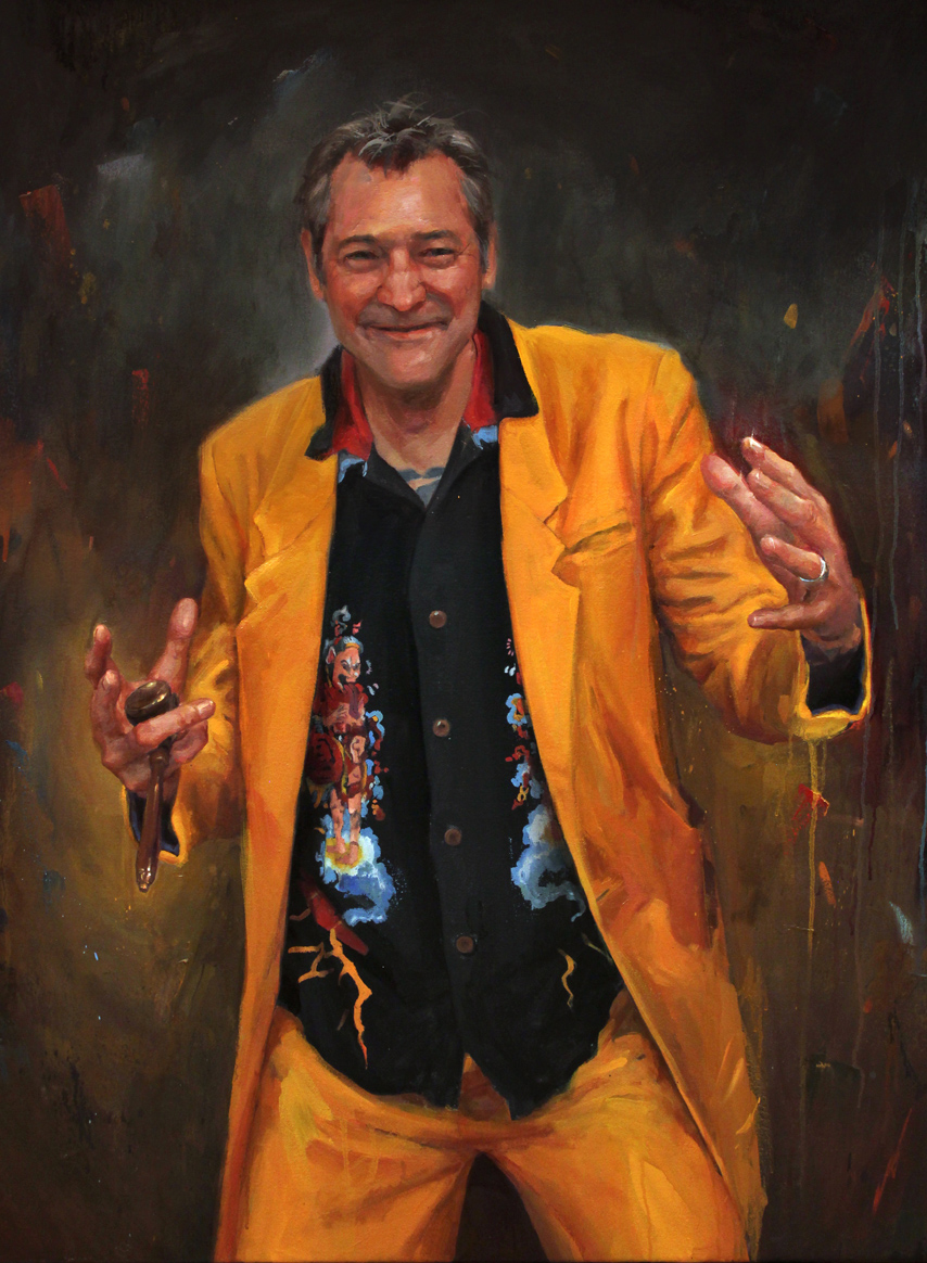 "'Portrait of the Artist, Luke Atkinson', oil on canvas, 40"" x 30"", 2017"