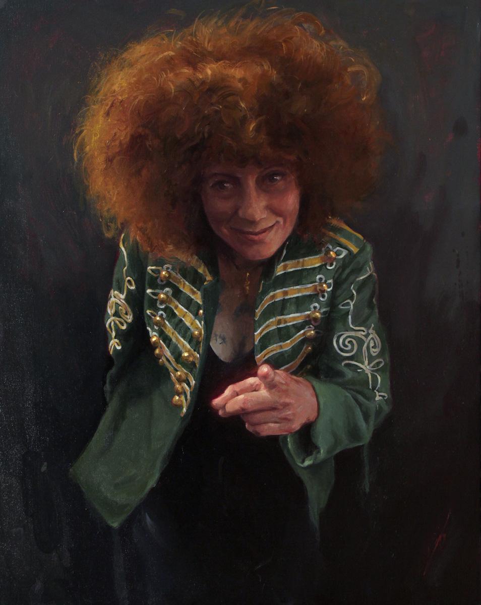 "'Portrait of the Artist, Titine Leu', 24"" x 30"", 2017"