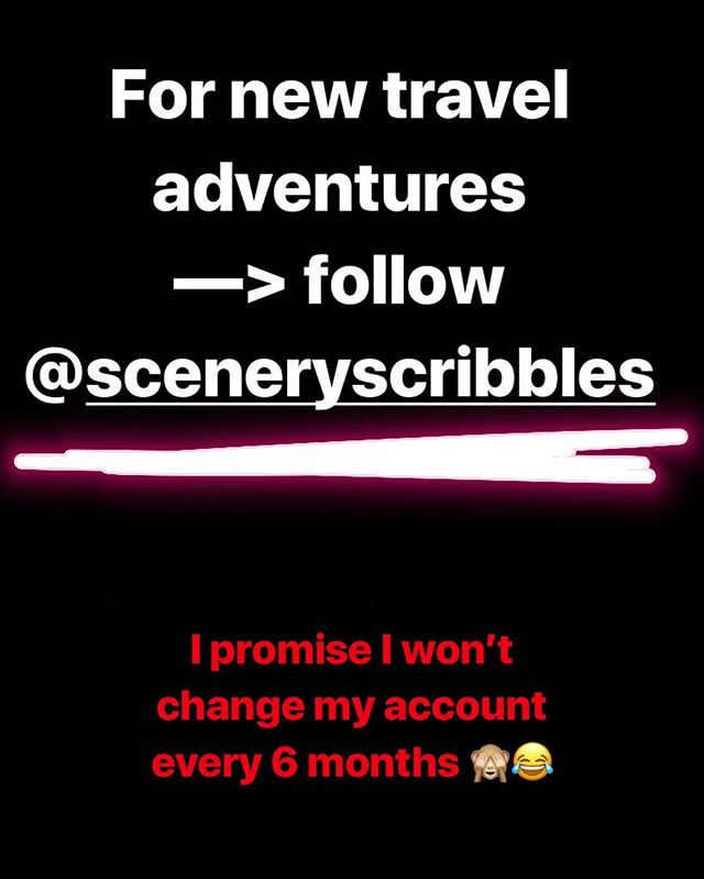 I'm sorry, but I wanted a fresh start and a different approach. Please follow me/us @sceneryscribbles and show our pictures some love! Kindness is free people 😊#newaccount #newstart