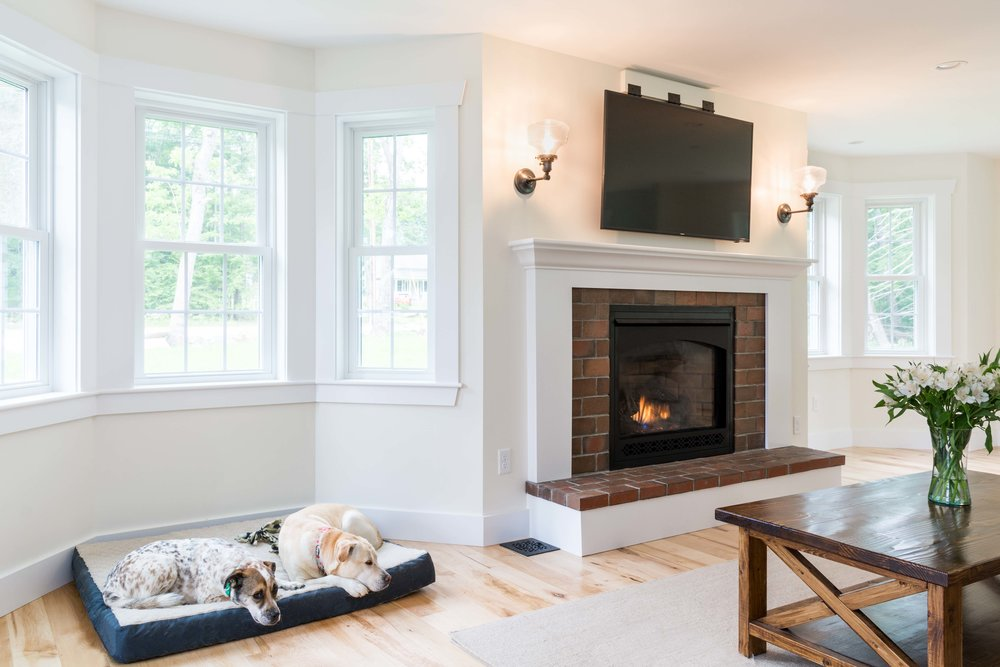 Granite Ridge Farmhouse, Windham, Maine, Living Room