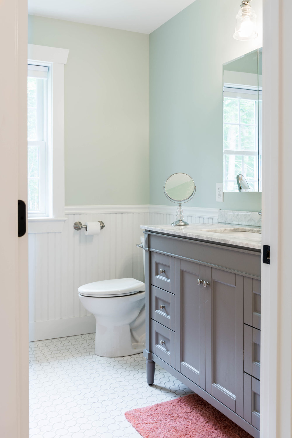 Granite Ridge Farmhouse, Windham, Maine, Kids' Bathroom