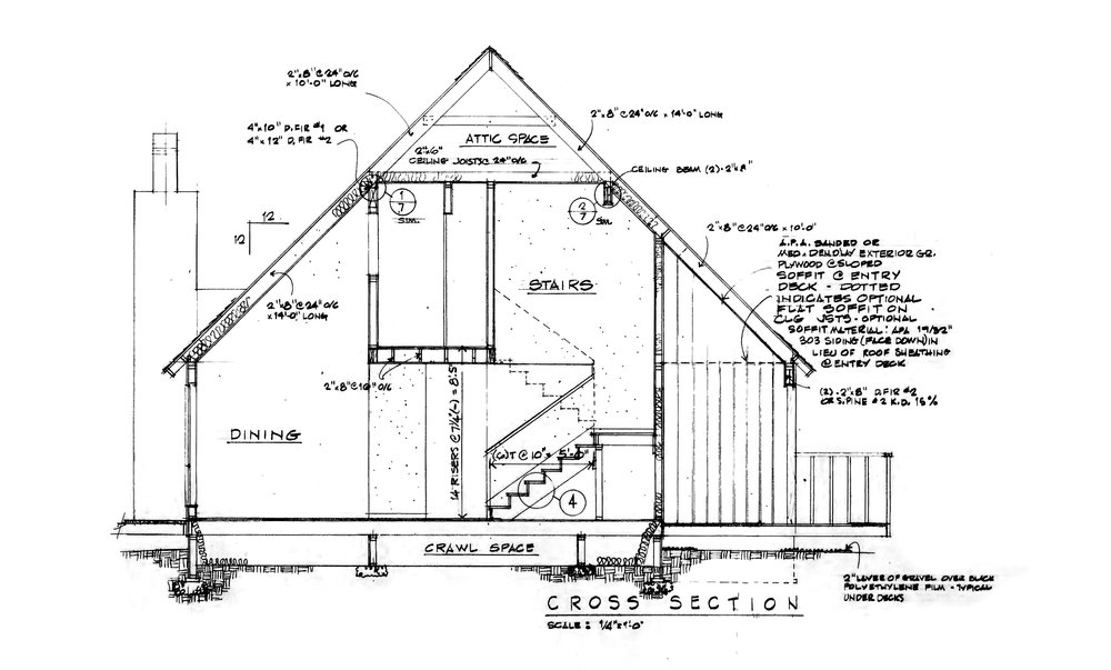 The Blueprints to the first MGM Builders home ever built.