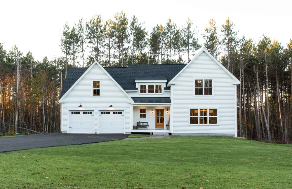 Pleasant River Farmhouse, Windham, Maine. MGM Builders