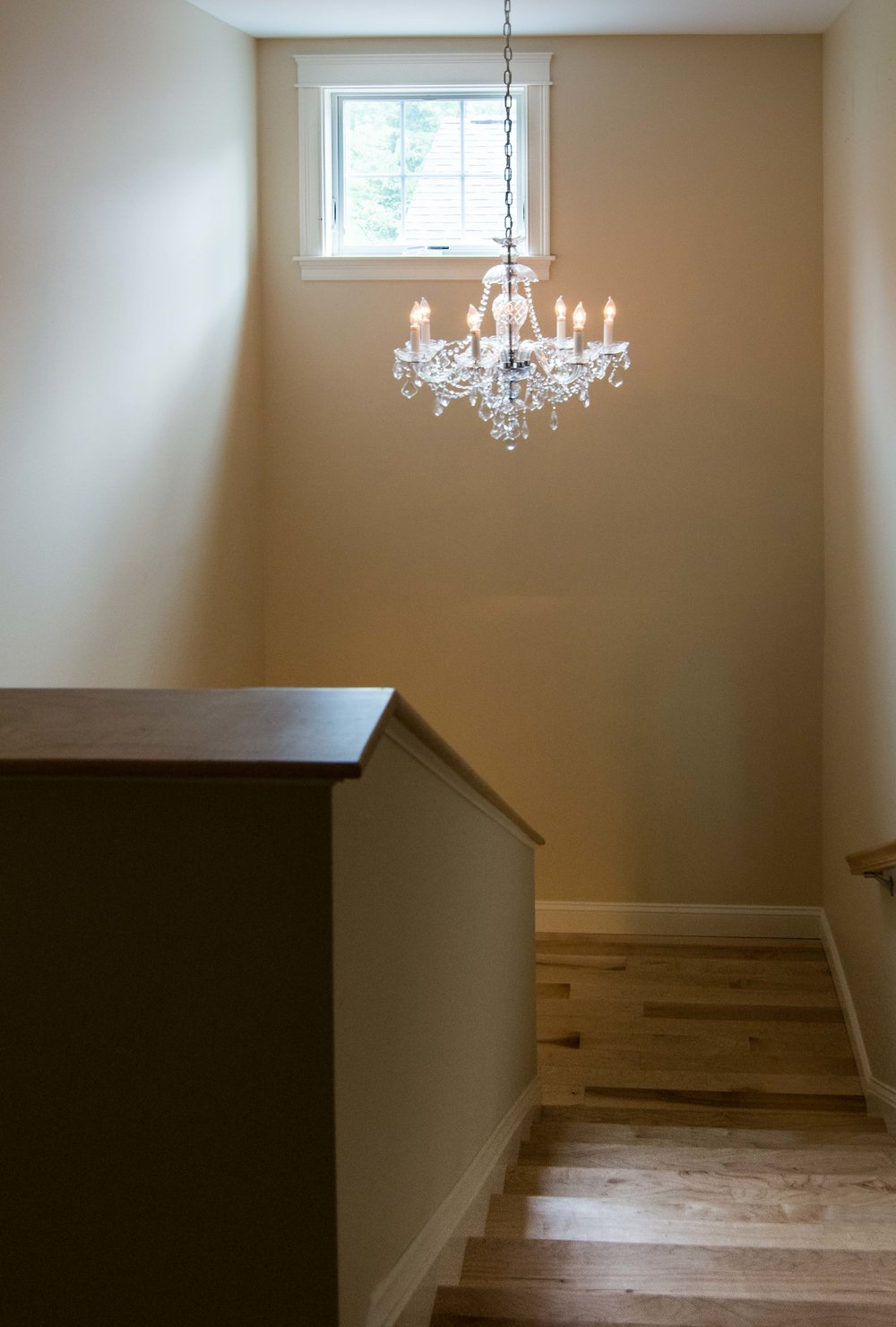 Stroudwater Cape, Portland, Maine, Stairs with Chandelier