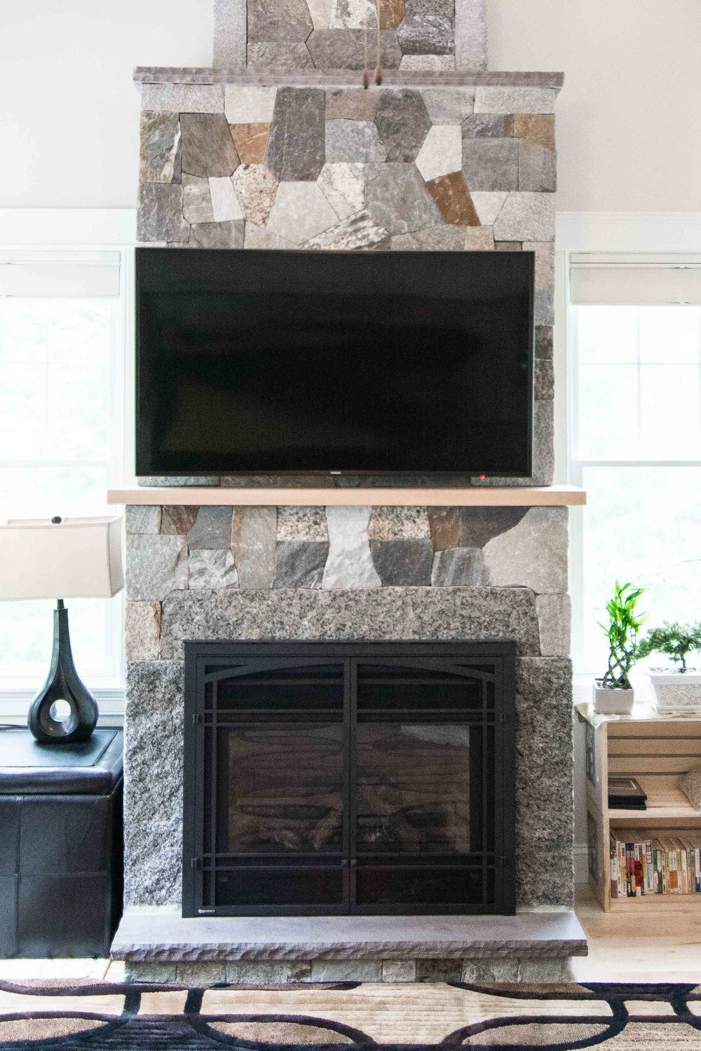 Stroudwater Cape, Portland, Maine, Stone Fireplace