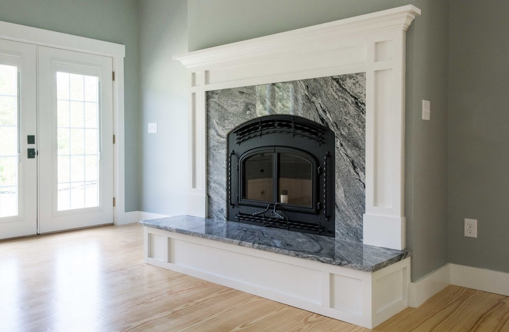 Pinewood Farmhouse, Gorham, Maine, Fireplace