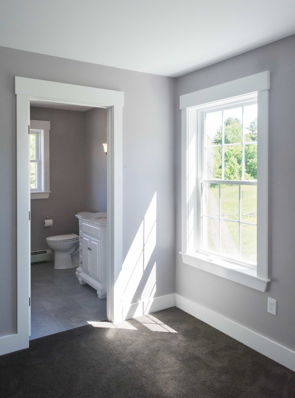 Pinewood Farmhouse, Gorham, Maine, Master Bathroom