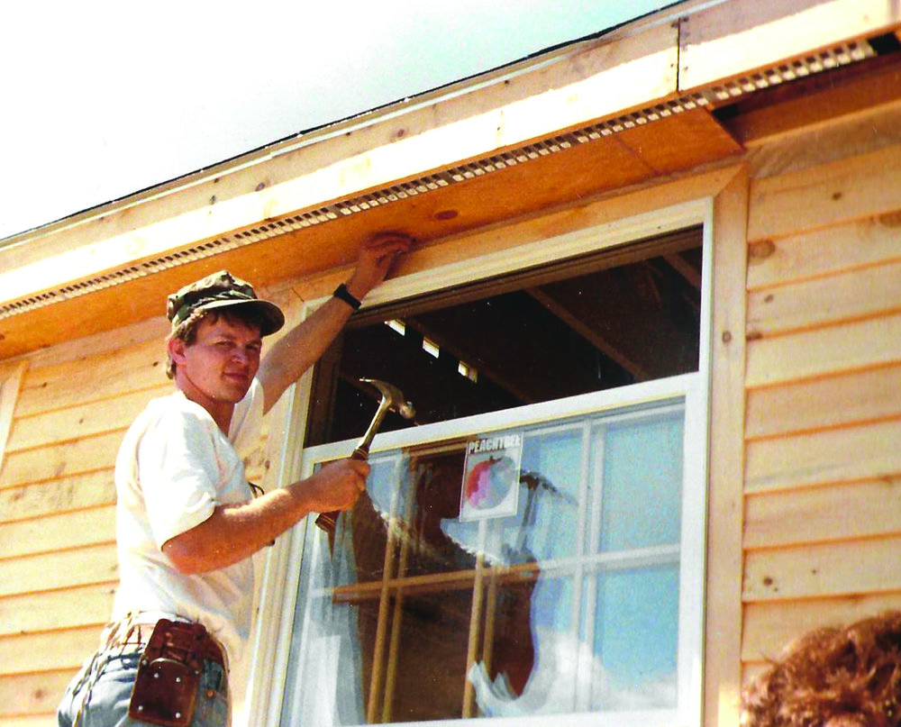 Mike Manning, working on his family's first home.