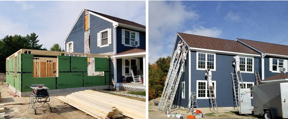Home Addition, Before and After