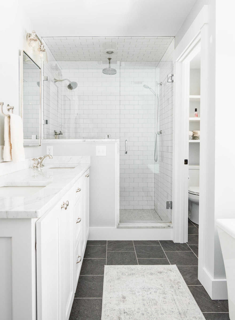 Pleasant River Farmhouse, Windham, Maine, Master Bathroom