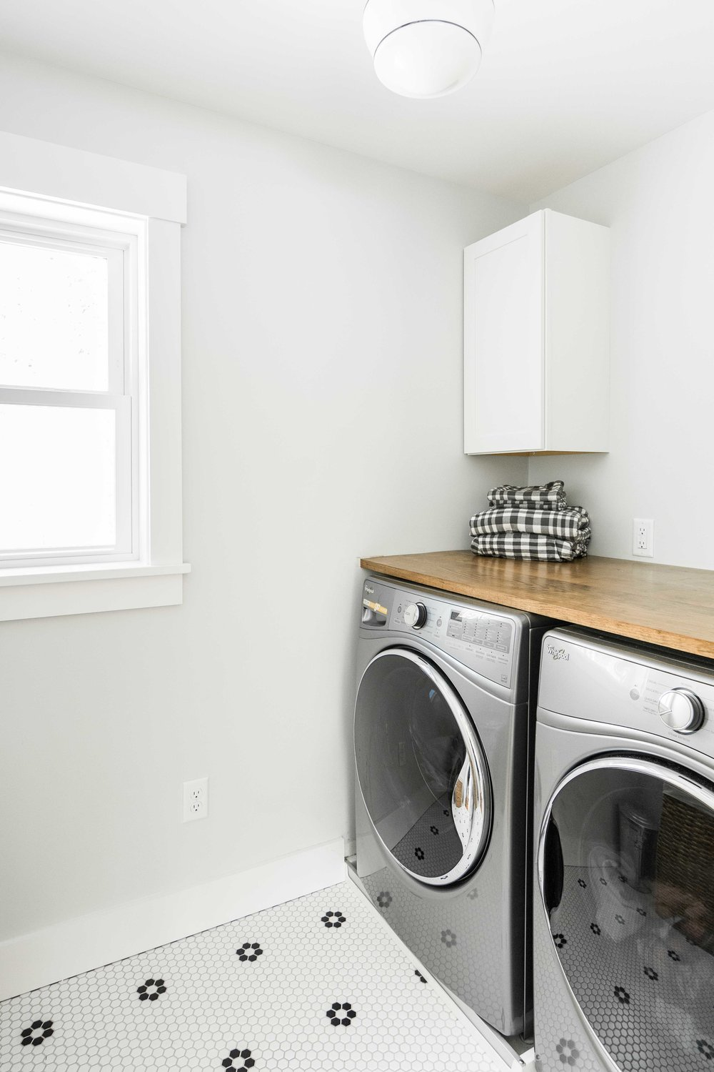 Pleasant River Farmhouse, Windham, Maine, Laundry Room
