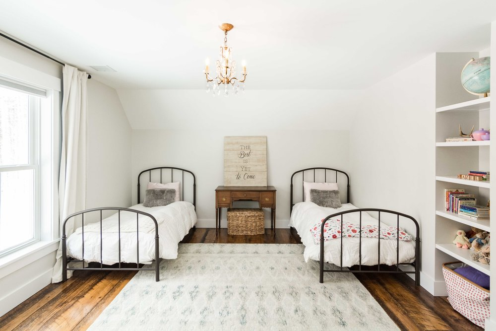 Pleasant River Farmhouse, Windham, Maine, Girls Bedroom