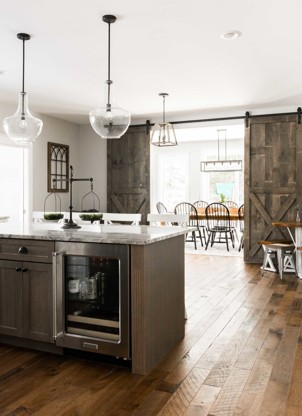 Birchwood Farmhouse, Gorham, Maine, Kitchen Eating Areas