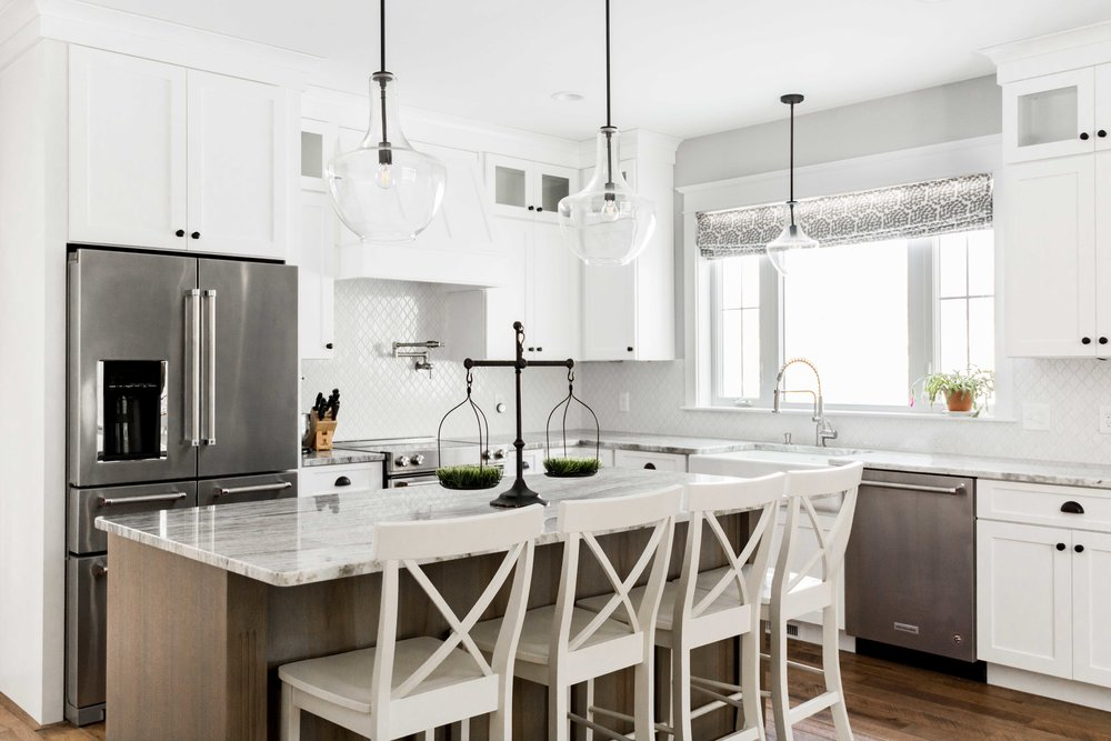 Birchwood Farmhouse, Gorham, Maine, Kitchen Island
