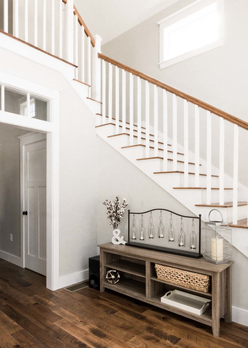 Birchwood Farmhouse, Gorham, Maine, Open Staircase