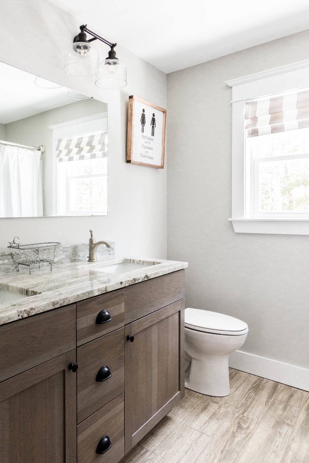 Birchwood Farmhouse, Gorham, Maine, Kids Bathroom