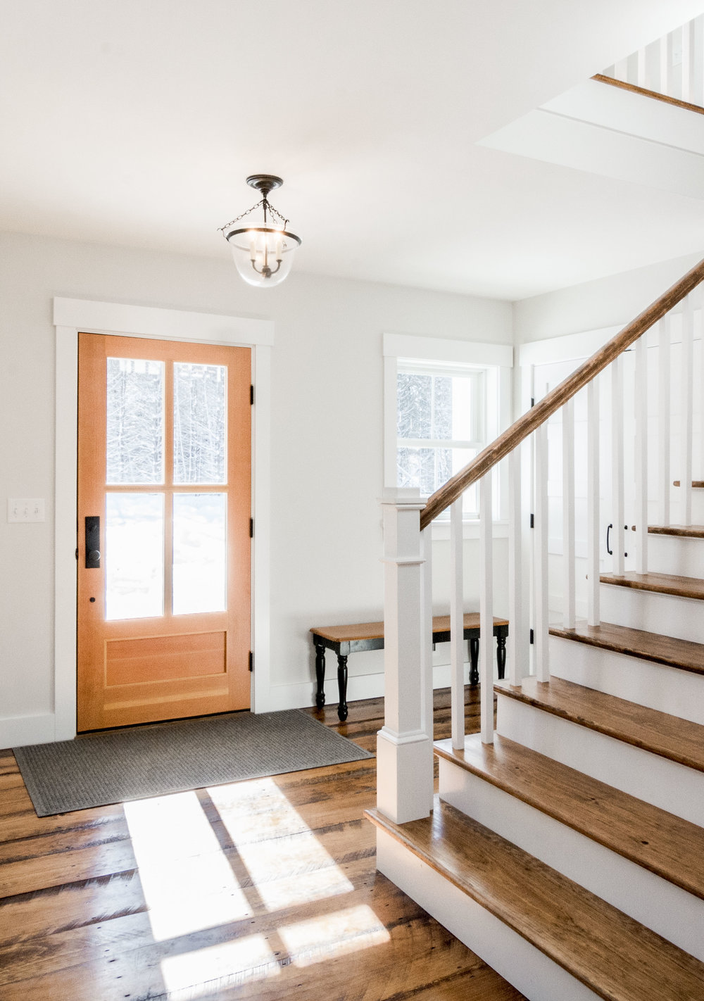 Pleasant River Farmhouse, Windham, Maine, Blog, Front Entrance Hall