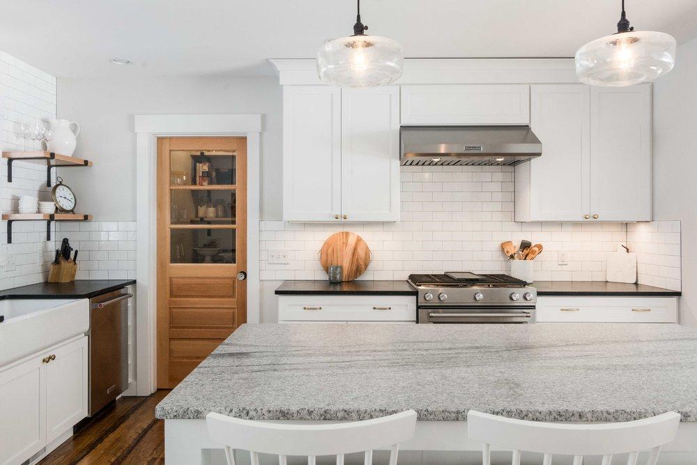 Pleasant River Farmhouse, Windham, Maine, Blog, Kitchen Cooking Area