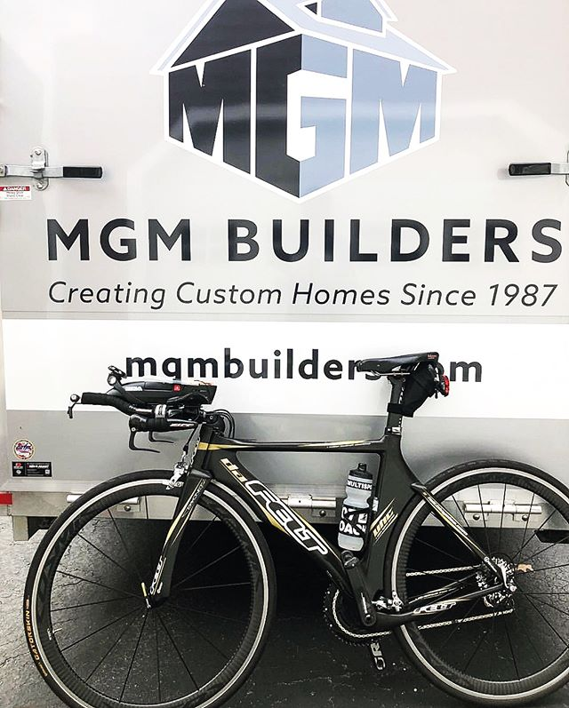 Our very own Bob Turner is biking his way through the Mont-Tremblant Ironman Triathlon right now! It's his fifth Ironman race- Go Bob! 🏊‍♂️ 🚴🏼‍♂️ 🏃🏻‍♂️#ironmanmonttremblant #triathlete #bicyclist #buildersofig #contractorsofinsta #mainelife #mgmbuilders