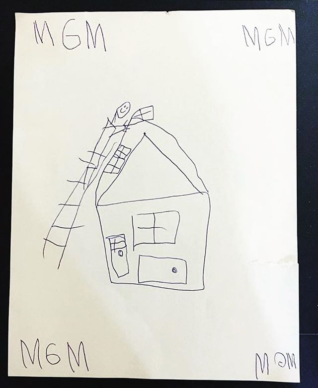 Noah, the son of one of our project managers, drew this after visiting his dad on the job site. We think he may have a future in home building! . . . . . #buildingdreams #mgmbuilders #teachthemyoung #homebuilding #contractorsofig #mainelife #mainehomes