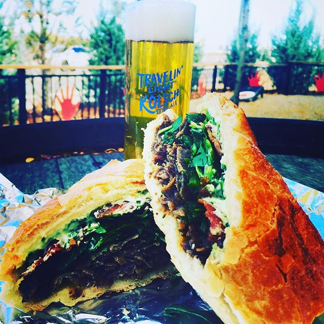 It's perfect weather for patio beers and delicious craft sandwiches. Catch the @brewhoptrolley and come see us @lefthandbrewing! Music starts at 4:30. FEED YOUR CRAVING @longmontcolorado