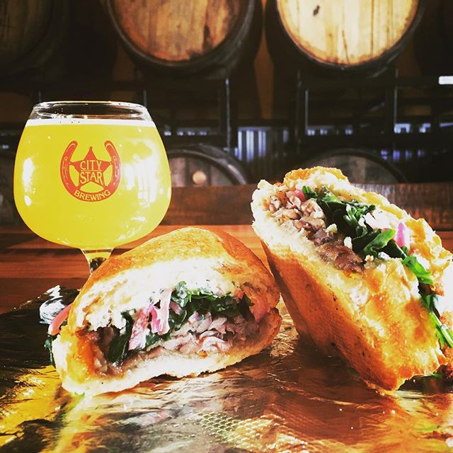 @citystarbrewing is the place to be @berthoudcolorado! Delicious craft sandwiches & beer all day. Enjoy this sun in the Beer Garden, The Big Twang Theory takes the stage tonight. FEED YOUR CRAVING